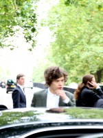 A rather dapper Harry Styles at the Burberry show